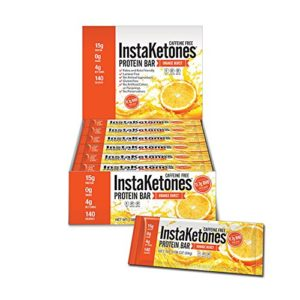 Instaketones are keto-friendly protein bars.
